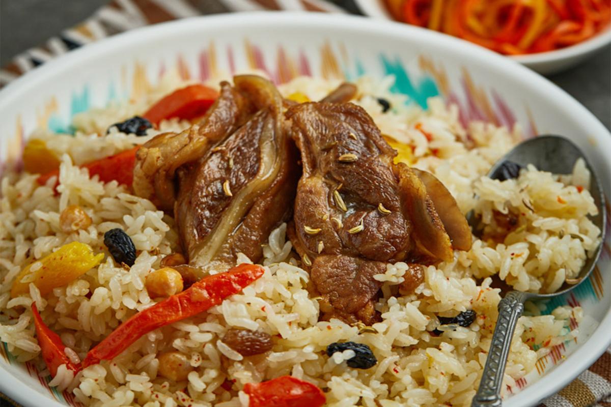 羊肉手抓饭(两块肉)